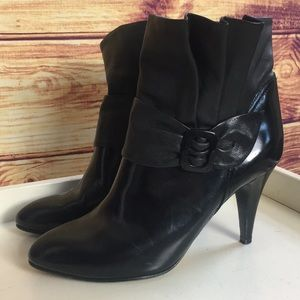 See by Chloe Black Leather Buckle Ankle Booties